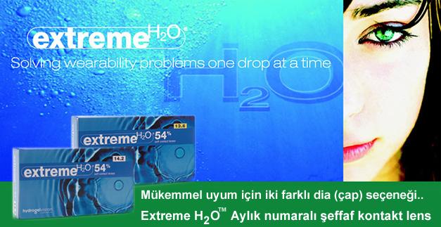 Aylık numaralı şeffaf kontakt lens extreme h2o