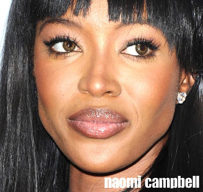 Naomi Campbell renkli lens